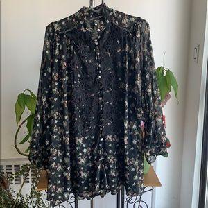 NWT Zara floral chiffon romper size medium